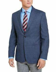 Tommy Hilfiger Mens Sport Coat Blue Size 38 Short Modern Fit THFlex $350 #033