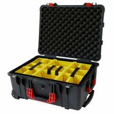 New Black & Red Pelican 1560 / 1564 with yellow padded dividers.