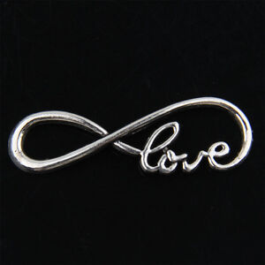 25Pcs Tibetan Silver infinity love Jewelry Making Connector 39mm ABF76