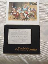 Blanche neige et les sept nains, lithographie édition limitée, 1988.