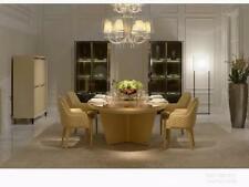 Diseño Redondo Mesa 6x Sillón Sillas Ess Habitación Asiento Tapicería Conjunto