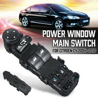 9 Pin Power Window Main Control Switch 9651464277 For Citroen C4 04-10 //