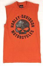 Harley Davidson Motorcycle Mens M Sleeveless T-Shirt Columbia Bar & Shield Skull