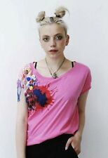 Pretty DIsturbia new BNWT present Red pink slouchy crop top hipster size 10 gift