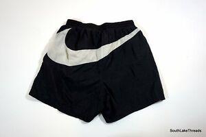 Vtg 90s Nike White Tag Big Huge Swoosh Nylon Shorts Swim Trunks XL Quick Dry