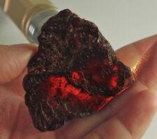 177Ct Natural Orange Garnet Hessonite Facet Rough Specimen YSE3415