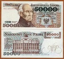 Poland, 50000 (50,000) Zlotych, 1989, P-153, UNC