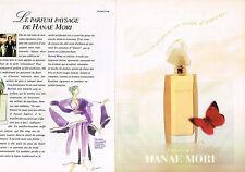 PUBLICITE ADVERTISING 045  1994  HANAE MORI   parfum femme ( 2pages)