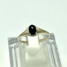 Ring 1.4 Grams Size 6.5 Ladies 10K Yellow Gold Onyx