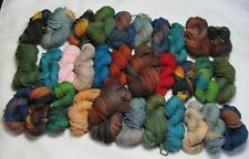 32 Mini Skeins Mountain Colors Hand Painted 4/8's Wool Mill Ends Yarn 1743 yds!