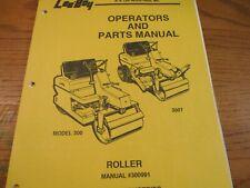 Leeboy Model 300 300t Roller Operators Parts Manual 300 300t