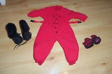 AMERICAN GIRL DOLL PLEASANT CO DOG SLED OUTFIT RED SNOWSUIT
