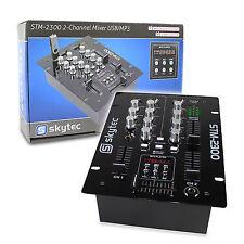 Skytec 172.740 DJ Mixer 2 Channels & USB Ssc1821