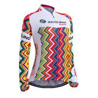 Women's Breathable Cycling Jersey Clothing Bike Bicycle Jacket Long Sleeve Tops