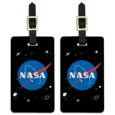 NASA Official Meatball Logo Luggage ID Tags Suitcase Carry-On Cards - Set of 2