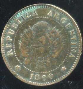 ARGENTINA  ARGENTINE   1 centavo  1890  ( aus )