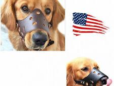Dog Muzzle Adjustable Basket No Bite Mouth Mask Bark Cage flexible Straps S-Xl