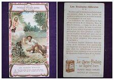 CARTE IMAGE CHROMO RECLAME CHOCOLAT POULAIN ORANGE LES SOUHAITS RIDICULES N°2
