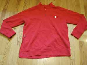 APPLE Employee 1/2 Zip PULLOVER XL EUC Phone Pocket Holiday Uniform Sweatshirt