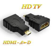 Lot de 2 Convertisseurs Cable HDMI femelle a micro HDMI - Type A vers Type D