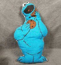 "Sesame Street COOKIE MONSTER Plush Toy Cushion Vintage Jim Henson Muppets 19"""