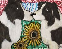 Border Collie Valentines Art Print 5 x 7 Dog Collectible Signed by Artist KSams