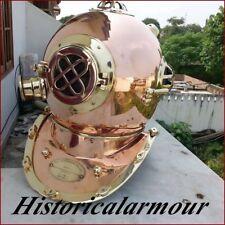 "VINTAGE copper with brass Scuba Deep SEA Diving Divers Helmet Mark V US Navy """