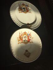 Bone China Queen Elizabeth 11 1953 Coronation Saucer & Side Plate