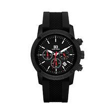 Danish Design IQ13Q1020 Black Dial Stainless Steel Rubber Quartz Men's Watch