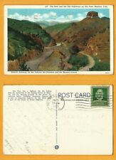 USA VINTAGE POSTCARD STAMP 1940 HIGHWAYS ON UTE PASS -MANITOU COLO
