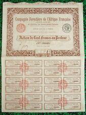 Côte d'Ivoire & Paris - Beau Décor Cie Forestière de l'Afrique Française de 1921