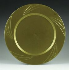 "Newbury Gold Plastic Dinner Plates 10.75"" (15 Pack )"