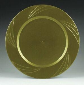 "Newbury Gold Plastic Dinner Plates 10.75"" 15 Pack Gold Plastic Party Tableware"