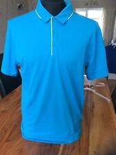 Nike Mens Golf Polo Shirt Tour Performance Dri-fit Blue Small