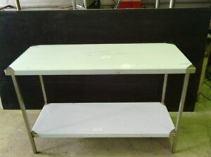 STAINLESS STEEL BENCH- 1400X650X900 GRADE 304 HEAVY DUTY FULLY STAINLESS FRAME