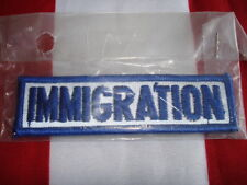 ID Patch Reflective IMMIGRATION New 1 X 4 Tactical Tab