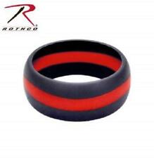 Thin Blue Line Police OR Thin Red Line Firefighter Silicone Rings,All Sizes ,New