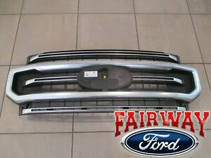 20 thru 21  Super Duty F-250 F-350 OEM Ford Satin Aluminum and Black Grille