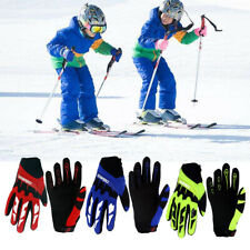 Kids Cycling Gloves Full Finger Skate Sports Protective Outdoor Waterproof