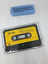 Kit pulisci testine cassetta audio  musicassetta audiocassette autoradio nastro