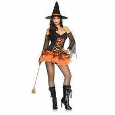 Leg Avenue 83632 Sexy 3 Pc Hocus Pocus Hottie Witch Halloween Costume Size S/M
