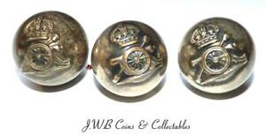 Small Lot Of 3 Antique Royal Artillery Ball Buttons By Wm Anderson & Sons