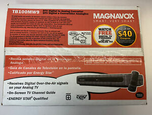 Magnavox TB100MW9 DTV Digital To Analog Converter-Remote-Cable in Box New