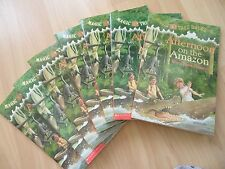 AFTERNOON AMAZON~Guided Reading Lot 7~MAGIC TREE HOUSE~Rain Forest~RIVER~Bats~