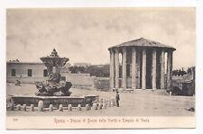 roma ,rome , piazza di bocca della verità e tempio di vesta
