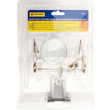 HELPING HAND TOOL CLIPS SOLDERING IRON CRAFT KIT NEW MAGNIFYING GLASS CROCODILE