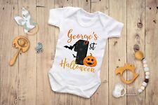 My First Halloween Custom Printed Baby Grow Newborn Gift Boy Girl Name