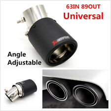 1xUniversal Carbon Fiber Look Angle Adjustable Exhaust Pipe Muffler End Tip 63mm