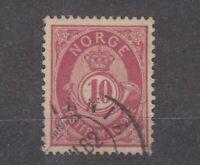Norway 1882 10 Ore Pale Carmine SG73 VFU JK1913