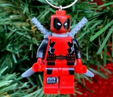 Marvel Deadpool Minifigure Custom Lego Christmas Tree Ornament ONE OF A KIND